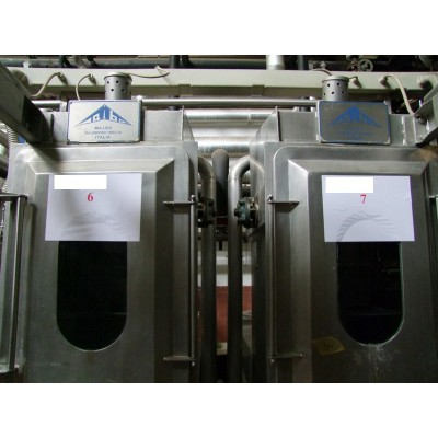 Ref.259 - N° 2 MAIBO rope dyeing machines, Mod. OF/PA, overflow system, max temperature 98°C (atmospheric)